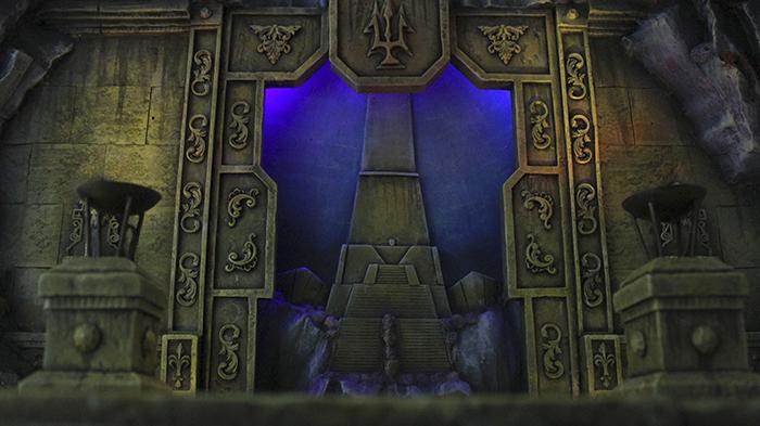 Diorama Templo de Poseidon Saint Seiya