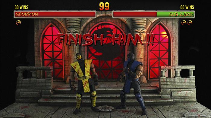 Diorama The Temple Stage Mortal Kombat